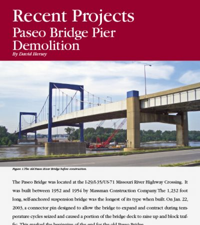Paseo Bridge Pier Demolition ISEE Journal