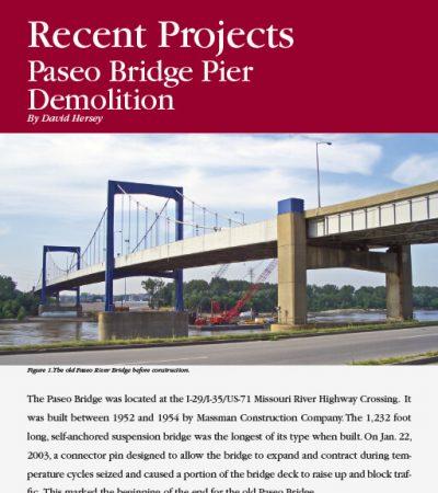 Paseo Bridge Pier Demolition ISEE Journal