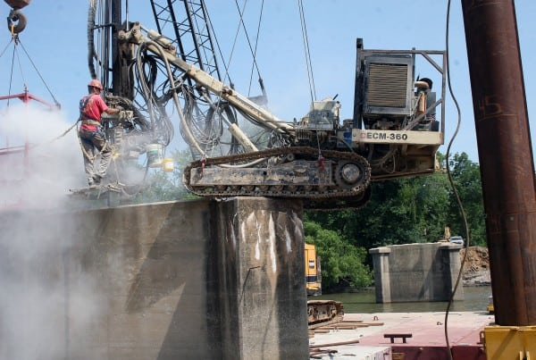 Bridge Demolition - Neosho River Pier